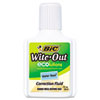 BIC Wite-Out Water-Based Correction Fluid, 20 ml Bottle, White, EA - BICWOFWB12WE