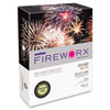 Boise Fireworx Colored Paper, 24lb, 8-1/2 x 11, Lightning Lime, 500 Sheets/Ream, RM - CASMP2241LE