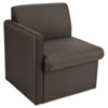 Global Braden Single Seat Reception Chair w/Right Arm, 24 x 27-1/2 x 30, Charcoal Gray