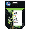 CD995FN (HP 28) Ink, 280 Page-Yield, 2/Pack, Tri-Color