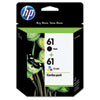 CR259FN (HP 61) Ink, 190 Page-Yield, Black, Tri-Color, 2/Pk