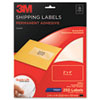 3M Permanent Adhesive Clear Inkjet Mailing Labels, 2 x 4, 250/Pack