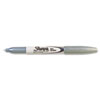 Sharpie Metallic Permanent Marker, Fine Point, Metallic Silver, Dozen