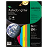 Wausau Astrobrights Eco Brights Colored Paper, 24lb, 8-1/2 x 11, Assorted, 500 Shts/Rm, RM - WAU22226