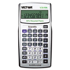 VCT V30RA Victor V30RA Scientific Recycled Calculator with Antimicrobial Protection VCTV30RA
