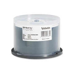 Verbatim Medical Grade CD-R Discs, 700MB/80min, 52x, Spindle, White, 50/Pack