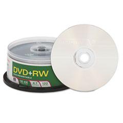 Verbatim DVD+RW Discs, 4.7GB, 4x, Spindle, 30/Pack