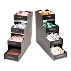 Vertiflex Narrow Condiment Organizer, 6w x 19d x 15 7/8h, Black