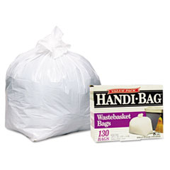 Handi-Bag Super Value Pack, 8 Gallon, .55 mil, 21-1/2 x 24, White, 130/Box