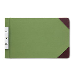Wilson Jones Canvas Sectional Post Binder, 8-1/2 x 14, 2-3/4 Center, Green