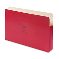 ColorLife 3 1/2 Inch Expansion File Pocket, Straight Tab, Legal, Red, 25/Box