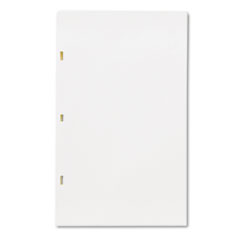 Wilson Jones Looseleaf Minute Book Ledger Sheets, Ivory Linen, 14 x 8-1/2, 100 Sheet/Box