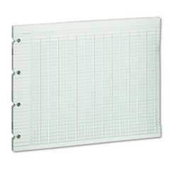 Wilson Jones G1024 Accounting Sheets, 24 Column, 9-1/4 x 11-7/8, 100 Loose Sheets/Pack, Green WLJG1024 WLJ G1024