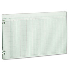 Wilson Jones Accounting Sheets, 30 Columns, 11 x 17, 100 Loose Sheets/Pack, Green