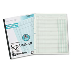 Wilson Jones G7202A Accounting Pad, Two Eight-Unit Columns, 8-1/2 x 11, 50-Sheet Pad WLJG7202A WLJ G7202A
