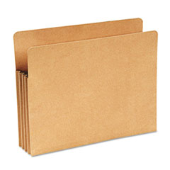 Recycled File Pocket, Straight Cut, Letter, 3 1/2 Inch Expansion, Kraft