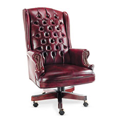 ALE CE41VY31MY Alera Traditional Series Wing Back Swivel/Tilt Chair ALECE41VY31MY