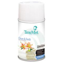 TimeMist Metered Fragrance Dispenser Refills, Clean N Fresh, 6.6oz Aerosol, 12/Carton