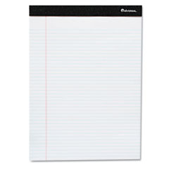 Universal Perforated Edge Ruled Writing Pads, Legal, 6 Pads/Pack, White