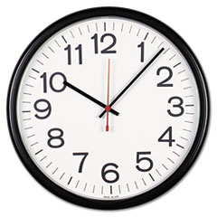 Universal Indoor/Outdoor Clock, 13-1/2in, Black