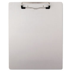 Universal One Brushed Aluminum Plastic Clipboard, 1/2