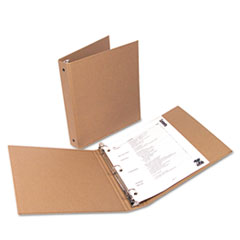 "Eco-Friendly Round Ring Natural Kraft Binder, 11 x 8-1/2, 1"" Capacity"