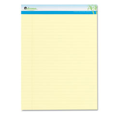 Universal One Sugarcane Based Writing Pads, 11-3/4 x 8-1/2, Legal, Canary, 2 50-Sheet Pads/Pk