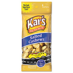 Kar's Nuts Caddy, Salted Cashews, 1 oz Packets, 30 Packets/Caddy