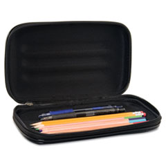Innovative Storage Designs Large Soft-Sided Pencil Case, Fabric with Zipper Closure, Black