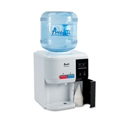 Avanti Tabletop Thermoelectric Water Cooler, 13 1/4dia. x 15 3/4h, White
