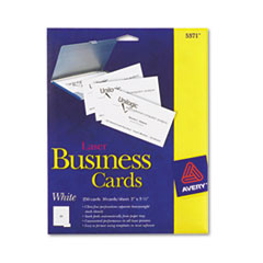 Avery Laser Business Cards, 2 x 3 1/2, White, 10 Cards/Sheet, 250/Pack
