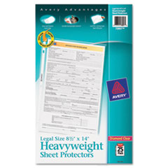 Avery Top-Load Polypropylene Sheet Protector, Heavy, Legal, Clear, 25/Pack