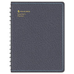 AT-A-GLANCE Recycled Undated Teacher's Planner,Black, 8 1/4