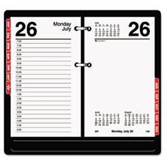 AT-A-GLANCE Desk Calendar Refill with Tabs, 3 1/2