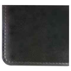 Artistic Rhinolin Desk Pad w/Embossed Edge Design, 17 x 12, Black