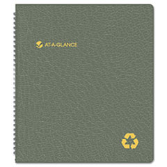 AT-A-GLANCE Recycled Monthly Planner, Black, 9