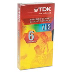 TDK Standard Grade VHS Videotape Cassette, 6 Hours