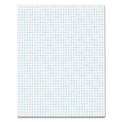 TOPS Quadrille Pads, 4 Squares/inc, 8-1/2 x 11, White, 50 Sheets