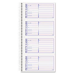 Petty Cash Receipt Book, 5 1/2 x 11, Two-Part Carbonless, 200 Sets/Book