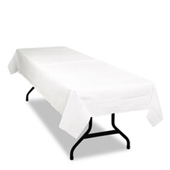 Tablemate Table Set Poly Tissue Table Cover, 54 x 108, White, 6/Pack
