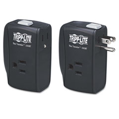 Tripp Lite POWER SURGE BK PROTECT IT! PORTABLE SURGE PROTECTOR, 2 OUTLETS, DIRECT PLUG-IN, 1050 JOULES