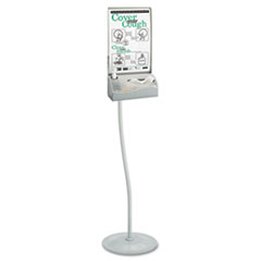 Safco Floor Hygiene Station with Stand, Silver, 11 1/2 x 5 x 64
