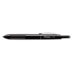 Sharpie Porous Point Retractable Permanent Water Resistant Pen, Black Ink, Fine