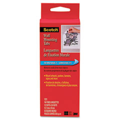 Scotch Precut Removable Mounting Tabs, Double-Sided, 1/2 x 3/4, 144/Pack