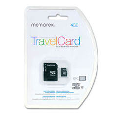 Memorex microSD Travel Card, Class 6, 4GB
