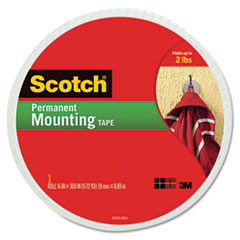 Scotch Foam Mounting Double-Sided Tape, 3/4 Wide x 350 Long