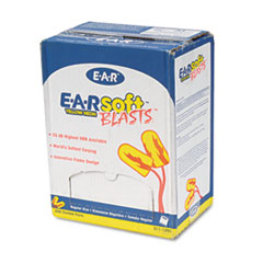 3M E-A-Rsoft Blasts Earplugs, Corded, Foam, Yellow Neon, 200 Pairs/Box