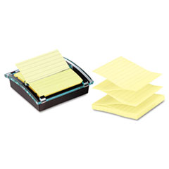 Post-it Pop-up Notes Super Sticky Super Sticky Pop-up Note Dispenser/Value Pack, 4 x 4 Self-Stick Notes,Black