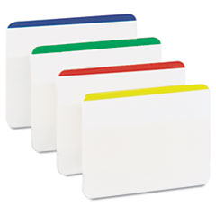 Post-it Durable File Tabs, 2 x 1 1/2, Striped, Assorted Standard Colors, 24/Pack
