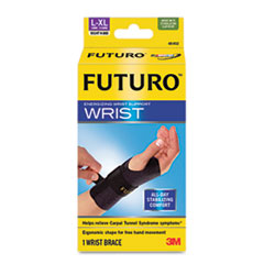 Energizing Wrist Support, Large/XLarge, Fits Right Wrists 6 3/4&quot; - 8 1/2&quot;, Black
